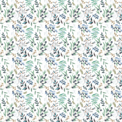 Olive seamless pattern digital clip art watercolor drawing flowers illustration similar on white background