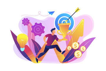 Business mission concept vector illustration.