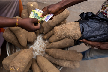 Buying Yams in Accra