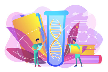 Genetic testing concept vector illustration.