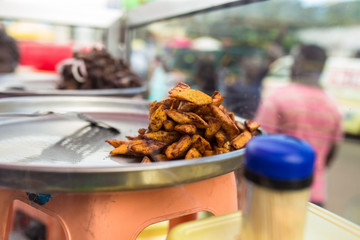 Street fried plantain