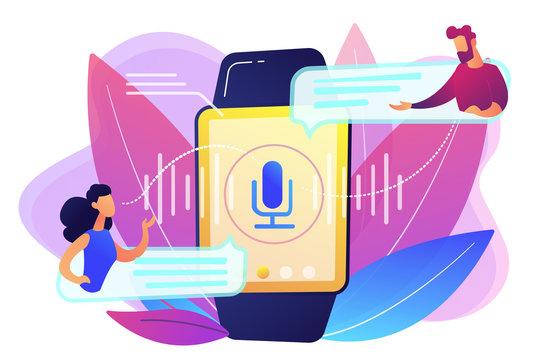 Digital translator concept vector illustration.