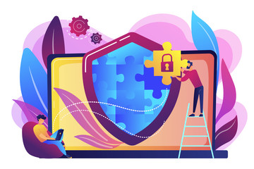 Firewall concept vector illustration.