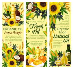 Natural oil and butter products, vector