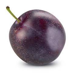 Plum isolated Clipping Path