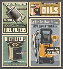 Car service , auto parts, oil and fuel