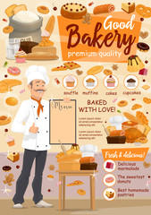 Bakery food, baker and pastry products
