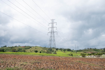 High voltage pole.