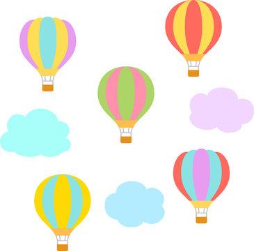 たくさんの気球と雲