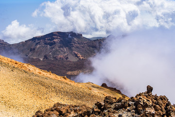 View of the Teide Volcano in Las Cañadas del Teide National Park. Tenerife. Canary Islands..Spain