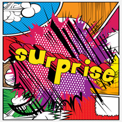 Surprise - Vector illustrated comic book style phrase.