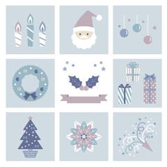 クリスマス アイテム セット / vector eps 10
