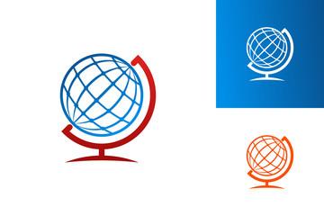 Globe Logo Template Design Vector, Emblem, Design Concept, Creative Symbol, Icon