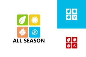 All Season Logo Template Design Vector, Emblem, Design Concept, Creative Symbol, Icon