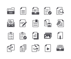 Minimal Set of File and Document Flat Icon