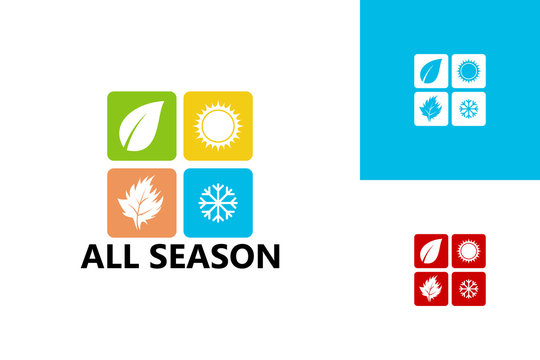 All Season Logo Template Design Vector, Emblem, Design Concept, Creative Symbol, Icon