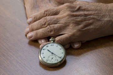 Elderly Woman and Time