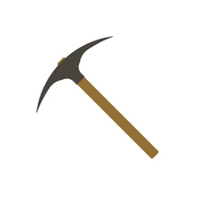 Pickaxe icon sign