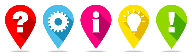Obraz Pins Question, Idea, Information, Work & Answer - fototapety do salonu