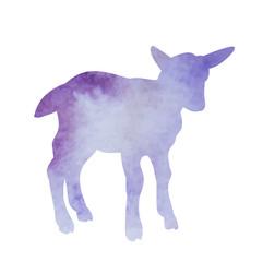 watercolor silhouette of a lamb