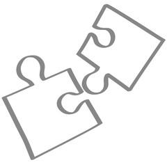 Handgezeichnetes Puzzle in grau