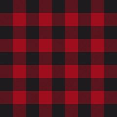 Lumberjack plaid pattern. Red and black lumberjack.