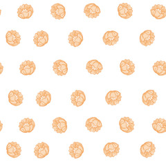 Seamless pattern, background with floral ornament In art nouveau style
