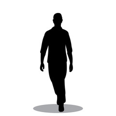 black silhouette man comes with shadow