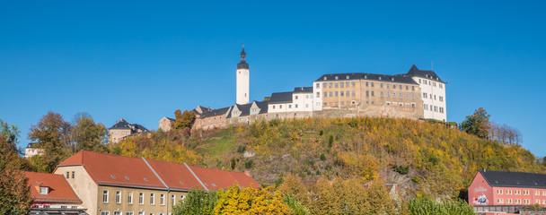Panorama Greizer Schloss im Herbst