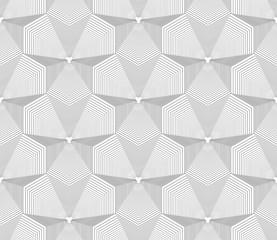 Seamless op art pattern. Geometric lines texture.