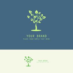 plant tree logo