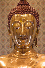 Frontal Portrait of the Golden Buddha