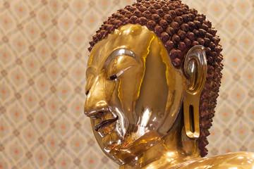 Profile Portrait of the Golden Buddha