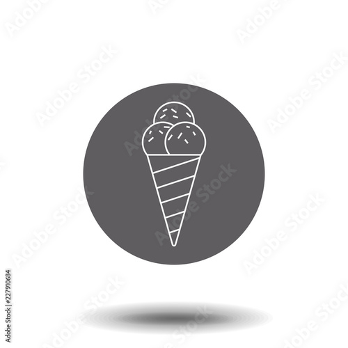 Ice Cream Line Icon Single High Quality Symbol Of Fast Food For Web