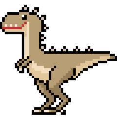 vector pixel art dinosaur monster