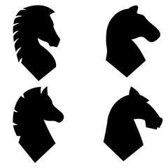 Horse head icon, logo on white background