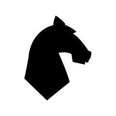 Horse head icon, logo on white background