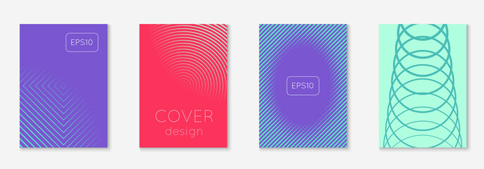 Cool cover template. Minimal trendy vector with halftone gradients. Geometric cool cover template for flyer, poster, brochure and invitation. Minimalistic colorful shapes. Abstract illustration.