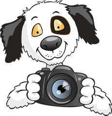 dog taking photo