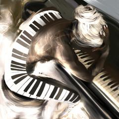 PIANO KOBIETA ART