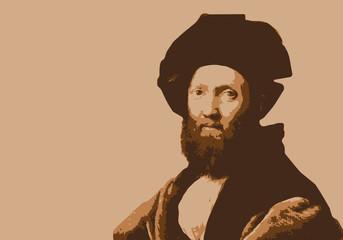 Portrait de Raphaël, célèbre peintre italien de la renaissance