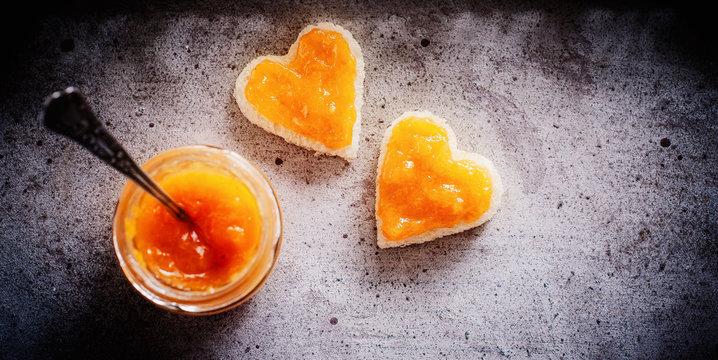 Aprikosen Marmelade im Banner Format