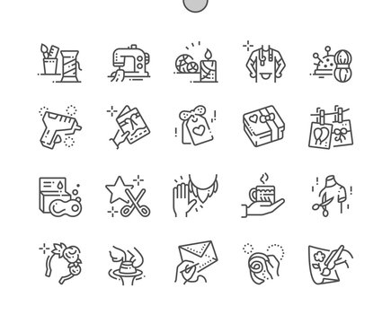 Handmade Well-crafted Pixel Perfect Vector Thin Line Icons 30 2x Grid for Web Graphics and Apps. Simple Minimal Pictogram