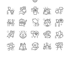 Ethics Well-crafted Pixel Perfect Vector Thin Line Icons 30 2x Grid for Web Graphics and Apps. Simple Minimal Pictogram