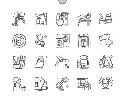 Hair salon Well-crafted Pixel Perfect Vector Thin Line Icons 30 2x Grid for Web Graphics and Apps. Simple Minimal Pictogram