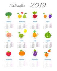 Funny annual calendar 2019