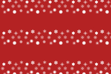 Schneeflocken Banner Muster rot weiß