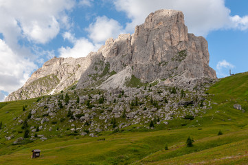 Impression of the Rugged Alpine Mountains in the Italian Dolomites on a beatiful Summer's Afternoon.