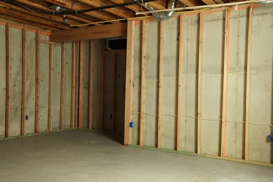 Basement Wall framing for drywall installation