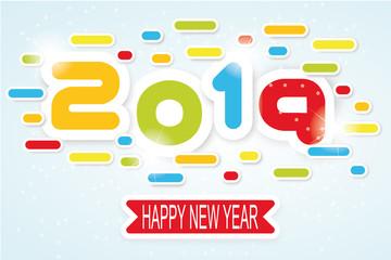 2019 happy new year written